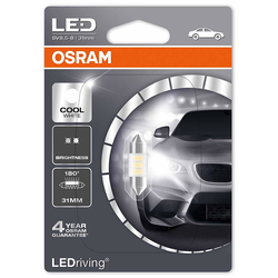 Ampoules Led Osram LEDriving C5W Cool White 31mm 1W 6000K