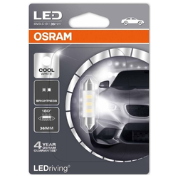 Ampoules Led Osram LEDriving C5W Cool White 36mm 1W 6000K