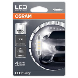 Ampoules Led Osram LEDriving C5W Cool White 41mm 1W 6000K