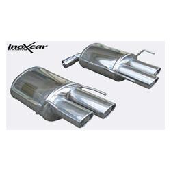 Duplex Endschalldämpfer Inoxcar  2x90x82