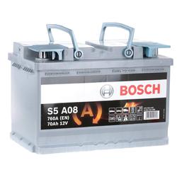 Autobatterie Bosch S5 A08 AGM 70Ah