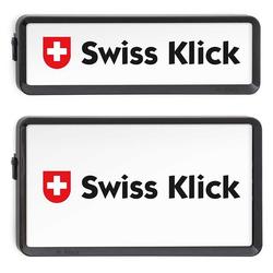 SwissKlick Nummernrahmen Schwarz Hochformat Set