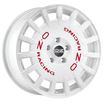 OZ RALLY RACING - WHITE RED LETTERING