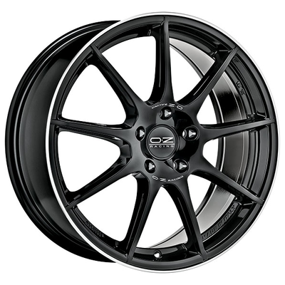 OZ VELOCE GT - GLOSS BLACK+DIAMOND LIP+SILVER LETTERING