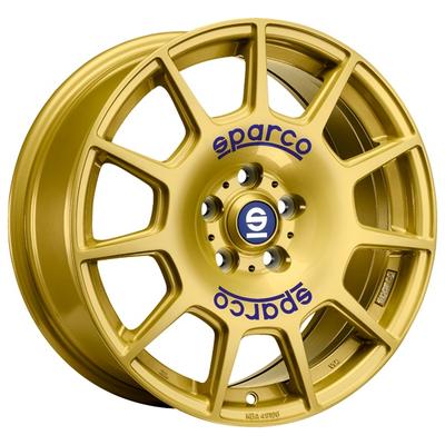 Sparco Terra - RACE GOLD BLUE LETTERING